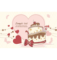 Cake with hearts vector image