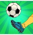Kick a soccer ball vector image