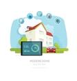 Smart home flat smart house vector image