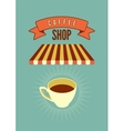 Coffee Shop typographical vintage style poster vector image