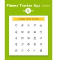 line fitness and sport tracker app icon set vector image