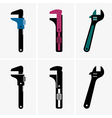 Adjustable wrenches vector image