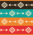 aztec seamless pattern with arrows retro vector image