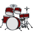 Classic red percussion vector image