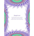 Colored page border design template vector image