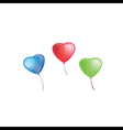 Colorful Heart Shape Balloons vector image