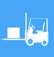 Forklift with a load vector image