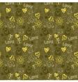 Love Doodle Pattern Background vector image
