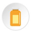 medicine jar icon circle vector image