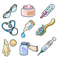 medicines and pharmaceutical products icon set vector image