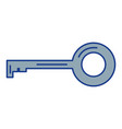 old key isolated icon vector image