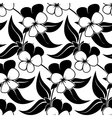 pansy floral black isolated seamless background vector image
