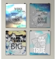 Quote Typographical galaxy Background vector image