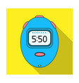 stopwatch for calculating time and speed of travel vector image