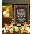 Octoberfest In Pub vector image