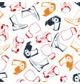 colorful boxing seamless pattern vector image