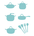 Cooking Equipment Silouette vector image
