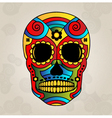Sugar skull mexico day of dead - vector image