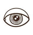 Eye rough symbol vector image vector image