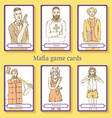Sketch Mafia cards in vintage style vector image