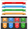 stitched color web ribbons vector image