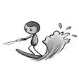 Man playing water ski vector image