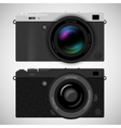 Mirrorless compact camera vector image