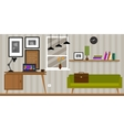 home interior work space table and sofa vector image