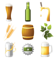 9 highly detailed beer icons vector image