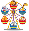 A carnival ride with animals vector image
