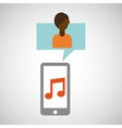 character afroamerican smartphone music vector image