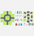 cityscape design elements with road transport vector image