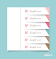 Cute Note papers ready for your message vector image