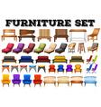 Different design of modern furniture vector image