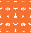 digital orange happy halloween vector image