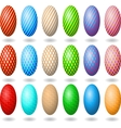 Easter eggs 2 vector image