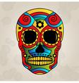 Sugar skull mexico day of dead - vector image
