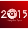 Symbol of New Years lamb on red vector image