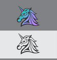 unicorn logo icon vector image