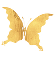 Silhouette vintage butterfly vector image vector image