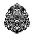 bohemian indian mandala towel print vintage henna vector image vector image