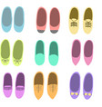 Colorful flat shoes vector image vector image