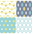 Four abstract fun motives seamless patterns set vector image vector image