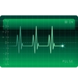 EKG monitor vector image