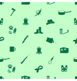 black backwoodsman icons seamless green pattern vector image