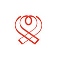 aids ribbon and heart combination logo vector image