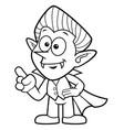 black and white cartoon dracula mascot orders vector image