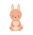 cute cartoon rabbit in flat style vector image