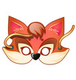 fox mask carnival and masquerade accessories vector image