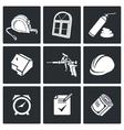 Installation windows Icons set vector image